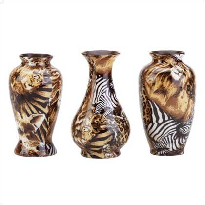 JUNGLE BUD VASES  Retail: $14.95