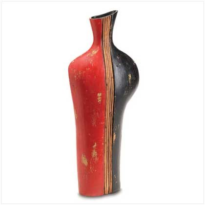 BLACK AND RED VASE  Retail: $59.95