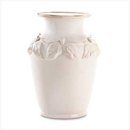 WHITE PORCELAIN URN   Retail: $49.95