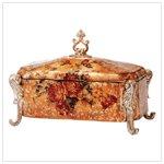 ANTIQUED ROSE TREASURE BOX  Retail: $44.95