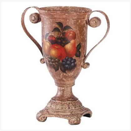 FRUIT DESIGN VASE  Retail: $59.95