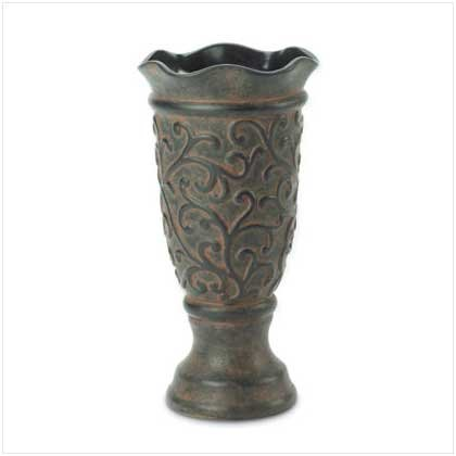 ORNATE PEDESTAL VASE  Retail: $19.95