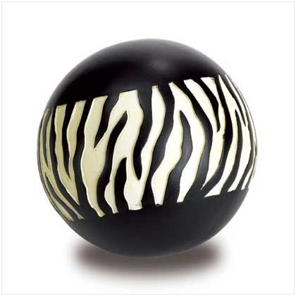 ZEBRA DECORATIVE BALL  Retail: $6.00