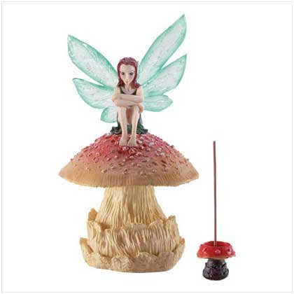 FAIRY MUSHROOM INCENSE BURNER  Retail: $14.95