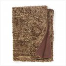 BROWN FULL SIZE FAUX FUR BLANKET   Retail: $119.95