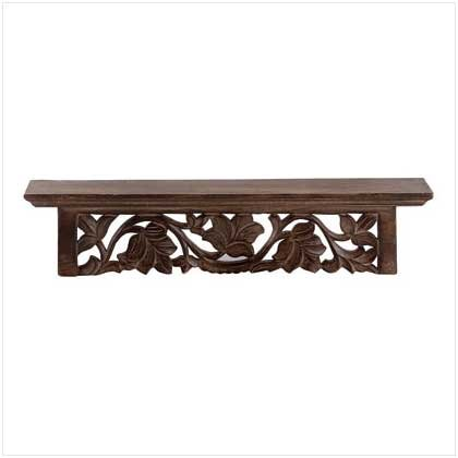 CARVED ISLAND  WALL SHELF  Reatil: $29.95