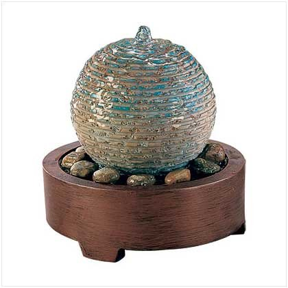WATER BALL DESKTOP FOUNTAIN  Retail: $27.95