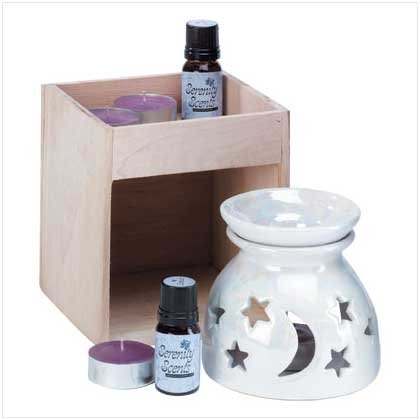 MOON AND STAR OIL WARMER SET  Retail: $14.95