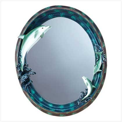 DOLPHIN WALL MIRROR  RETAIL: $21.95