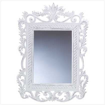 GENTEEL WHITE MIRROR  RETAIL: $29.95