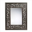CARVED LEAF-FRAMED MIRROR  RETAIL: $149.95