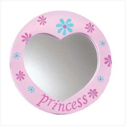 PRINCESS HEART MIRROR  RETAIL: $6.95