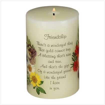FRIENDSHIP SCENTED CANDLE   Retail: $9.95