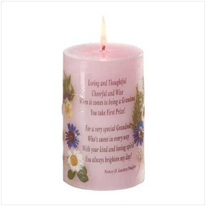 FLORAL GRANDMOTHER CANDLE  Retail: $9.95