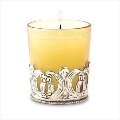 IRON SCROLL VOTIVE HOLDER  Retail: $9.95