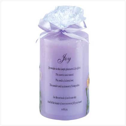 JOY CANDLE  Retail: $9.95