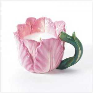 FLOWER CUP CANDLE  Retail: $8.95