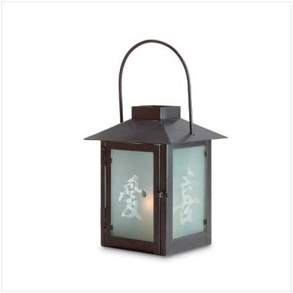 CHINESE CHARACTER CANDLE LANTERN  Retail: $9.95