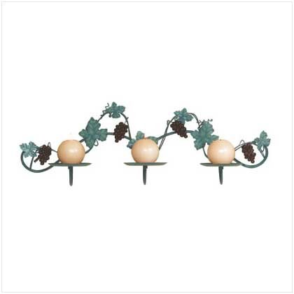 GRAPEVINE WALL CANDLEHOLDER  Retail: $17.95