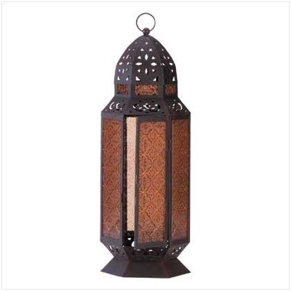 TALL MOROCCAN-STYLE CANDLE LANTERN  Retail: $39.95