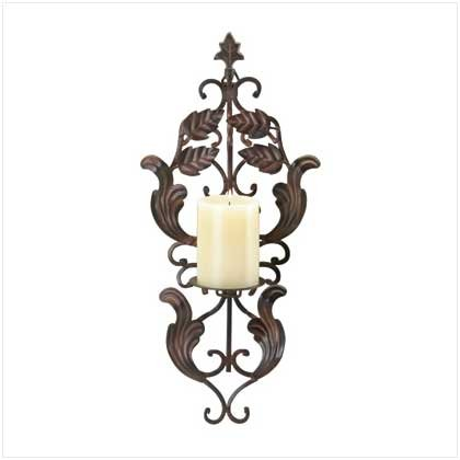 WROUGHT IRON WALL CANDLEHOLDER  Retail: $19.95