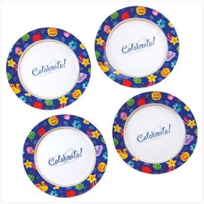 CELEBRATE! DESSERT PLATE SET  Retail: $24.95