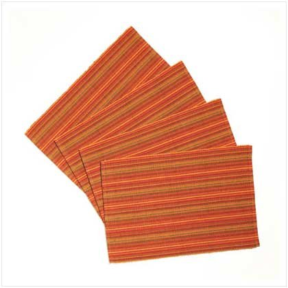 SPICY STRIPES PLACEMAT SET  Retail: $16.95