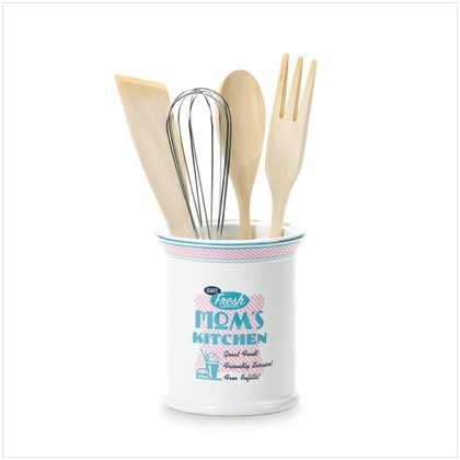 MOM'S KITCHEN UTENSIL HOLDER  Retail; $19.95