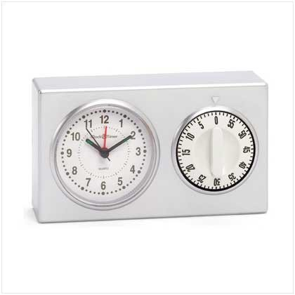 MOM'S KITCHEN CLOCK WITH TIMER  Retail: $12.95
