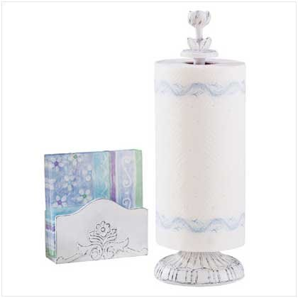NAPKIN HOLDER & PAPER TOWEL STAND  Retail: $14.95