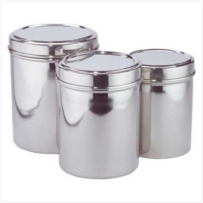 STAINLESS STEEL CANISTERS  Retail; $24.95