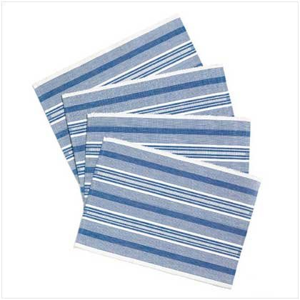 BLUE PLACEMAT SET  Retail; $16.95