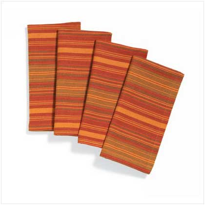 SPICY STRIPES NAPKIN SET  Retail: $12.95