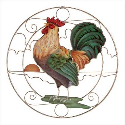 CROWING ROOSTER SUN-CATCHER  Retail: $9.95