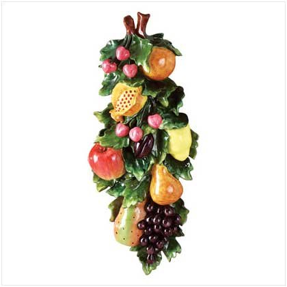 MIXED FRUITS WALL PLAQUE  Retail; $34.95