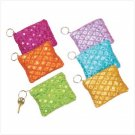 SPARKLING COIN PURSE KEYCHAINS    6 PACK