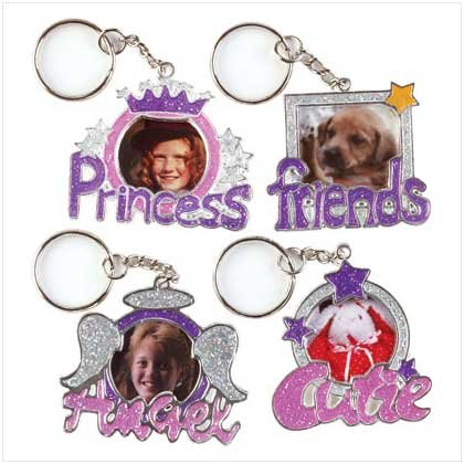 CUTE PHOTO FRAME KEYCHAINS   12 PACK