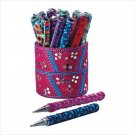 PRINCESS PEN SET    20 PEN AND HOLDER