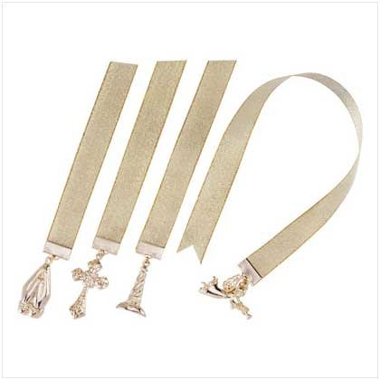 GOLD-PLATED CHRISTIAN BOOKMARKS  12 PACK