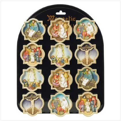 LIFE OF JESUS MAGNETS   12 PACK