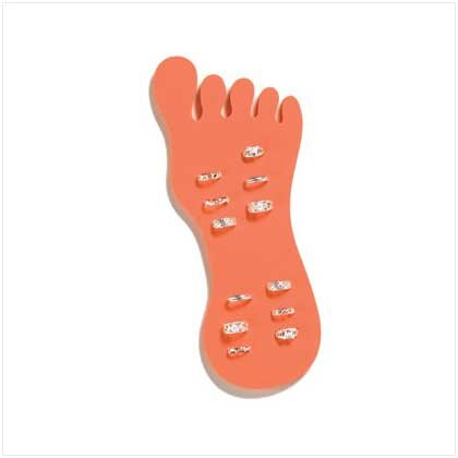 SILVER-PLATED TOE RINGS  12 PACK