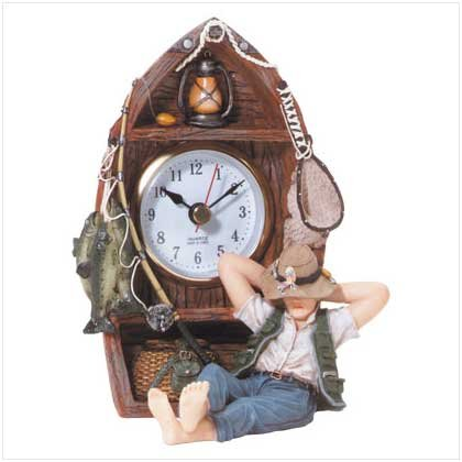 GONE FISHIN' CLOCK  Retail: $24.95