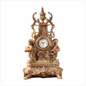 BAROQUE CHERUB CLOCK  Retail: $99.95