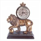GOLDEN LION CLOCK  Retail: $29.95