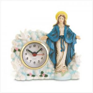 VIRGIN MARY CLOCK  Retail: $12.95