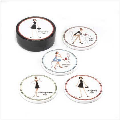 THE GIRLS COASTER SET  Retail: $12.95