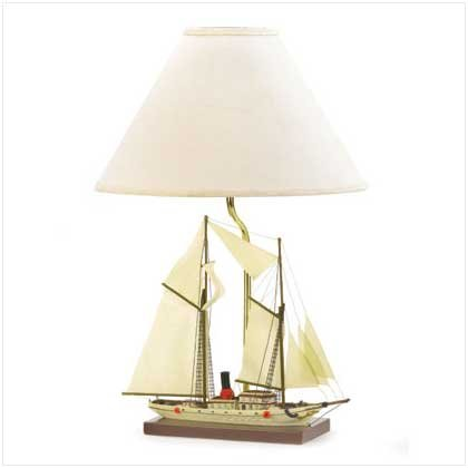 SAILBOAT LAMP  Retail: $69.95