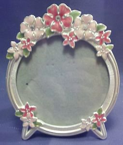 flower frame 2001 burnes of boston carr frames silverplate enamel crystal