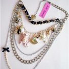 NWT Betsey Johnson Dream Dress Teddy Charms Necklace