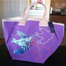 NWT MARC BY MARC JACOBS Birds Mabel Canvas Purple Bag